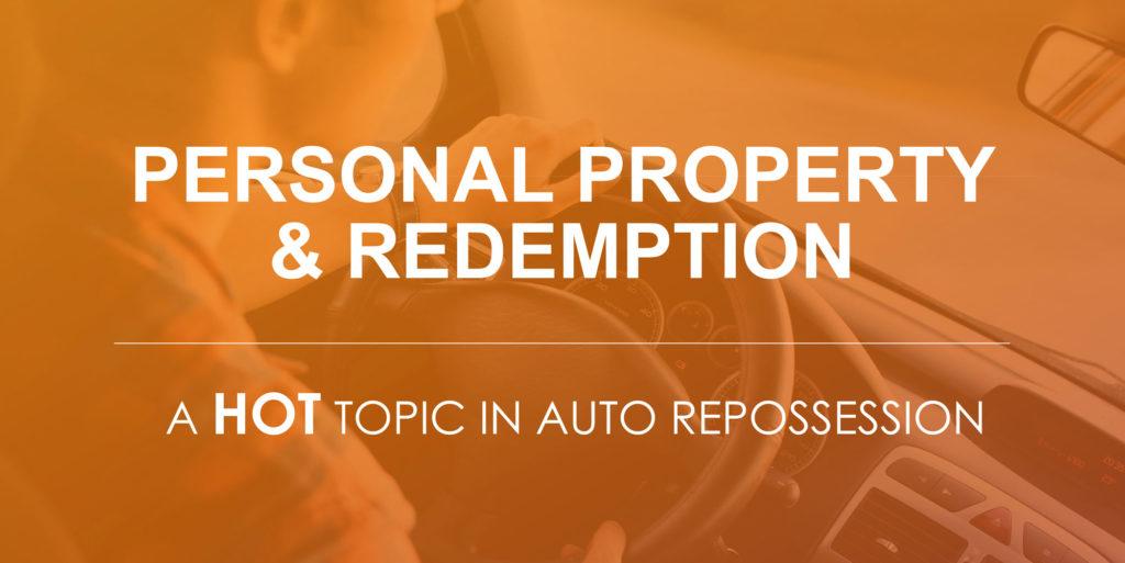 auto repo personal property redemption