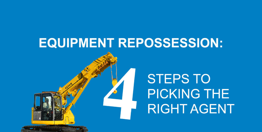 equipment repo picking the right agent